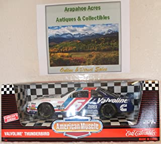 #7222 Ertl American Muscle Mark Martin #6 Valvoline Thunderbird Nascar 1/18 Scale Diecast