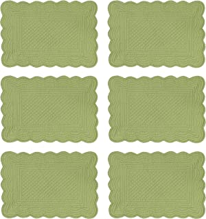 Sage Green Quilted Placemats