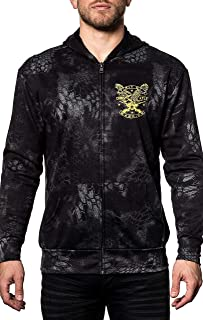 Affliction CK Freedom Chris Kyle Long Sleeve Fashion Graphic Zip Hood Jacket For Men