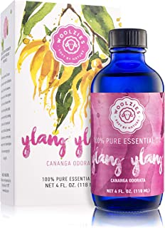 Woolzies Ylang Ylang Essential Oil - Aromatherapy Essential Oils for Diffuser and Topical Use | 100% Pure Therapeutic Grad...