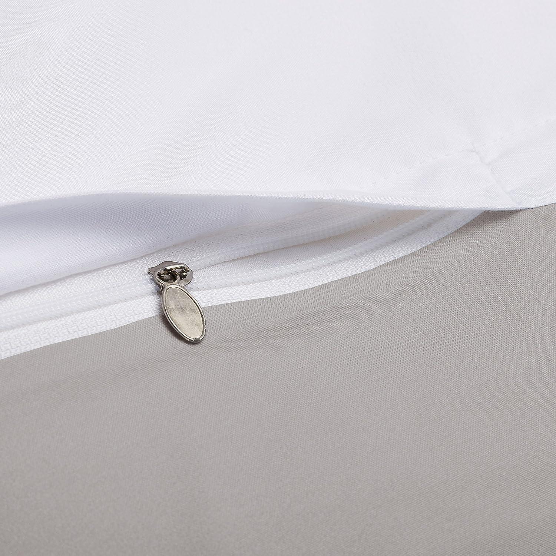 sleepwise Juego de 2 Fundas de Almohada Soft Wonder Gris Claro, 40 x 80 cm
