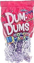 Purple Dum Dums Color Party - Grape Flavored - 75 Count Bag - 12.8 ounces - Includes Free How To Build a Candy Buffet Guide