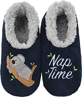 Snoozies Womens Classic Splitz Applique Slipper Socks | Womens Slipper Socks | Womens House Slipper Socks | Cozy Slippers for Women | Multiple Styles and Sizes