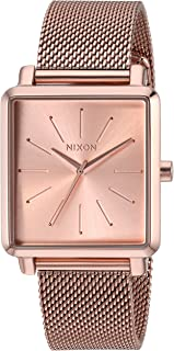 Nixon Women's K Squared Milanese Japanese-Quartz Watch with Stainless-Steel Strap, Black, 19 (Model: A1206897)