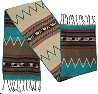 """Rustic Covenant """" Western Scarves Collection """" Southwest Fashion Scarf for Women, Zuni Zig Zag Tan, 12 Inches by 72 Inches"""