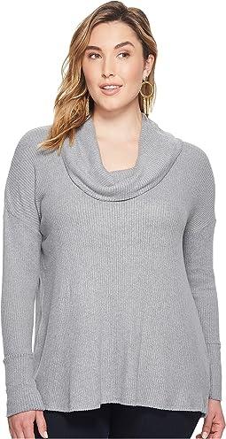 Plus Size Tulip Hem Sweatshirt