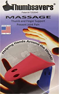 THUMBSAVER - Manual Massage Therapist Hand Tool - Small, Red