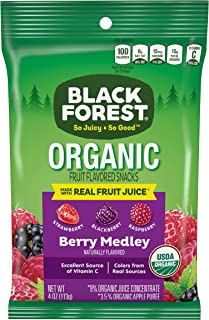 Black Forest Organic Fruit Snacks, Mixed Berry, 4-Ounce Bag (Pack of 12)