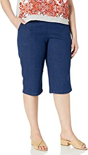 Women's Plus Size 2 Pocket Pull on Capri