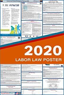2020 Arizona Labor Law Posters (Laminated) All-in-One State and Federal Approved, OSHA Compliant Vertical 27