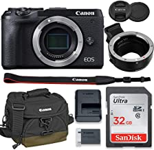 Canon EOS M6 Mark II Mirrorless Digital Camera (Black) Body Only Kit with Auto (EF/EF-S to EF-M) Mount Adapter + 32GB Sand...