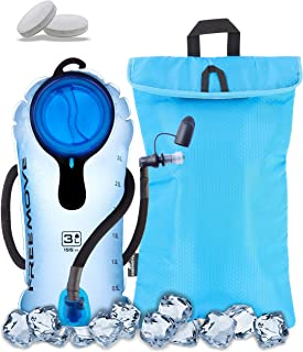 FREEMOVE 2L or 3L Hydration Bladder with a Cooler Bag, Keeps Drink Cool and Protects Bladder or Replacement Bite Valve, Le...
