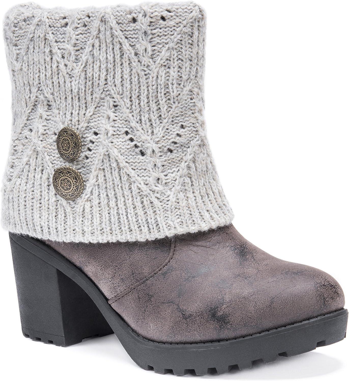 MUK LUKS Womens Women's Christa Heeled Boots Wheeled Heel shoes