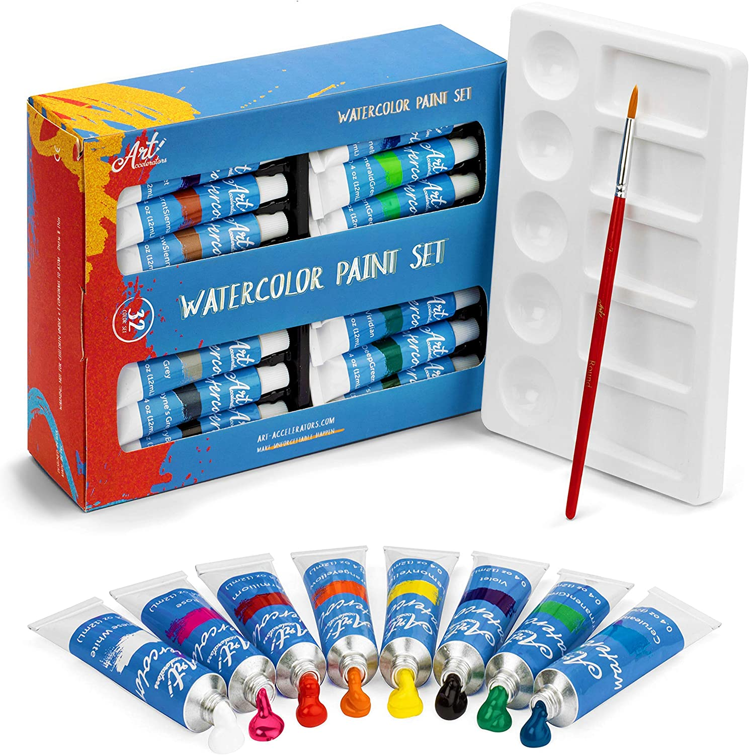 Watercolor Paint Set - 32 Water Color for Adults Paints Jacksonville Mall Artists Max 59% OFF