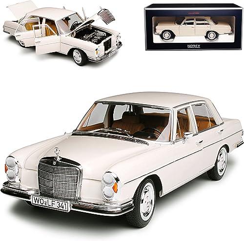Norev Mercedes-Benz 280 SE S-Klasse Limousine Ivory Beige W108 1965-1972 1 18 Modell Auto mit individiuellem Wunschkennzeichen