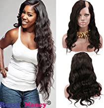 Rossy&Nancy Natural Looking 7A Brazilian Human Hair U Part Lace Front Wig with Baby Hair Natural Black Color for White Women 20inch