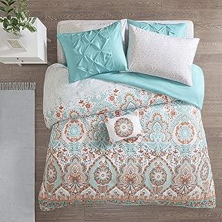 Intelligent Design Vinnie 6 Pieces Brushed Solid Microfiber Comforter and Sheet Set Bag Bedding, Twin XL Size, Aqua