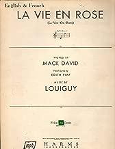 LA VIE EN ROSE, sheet music with Martha Lou Harp on the cover