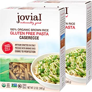 Jovial Caserecce Gluten-Free Pasta | Whole Grain Brown Rice Caserecce Pasta | Non-GMO | Lower Carb | Kosher | USDA Certifi...