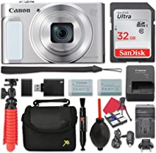 Canon PowerShot SX620 HS Digital Camera (Silver) 25x Optical Zoom + 32GB SD + Spare Battery + Complete Accessory Bundle