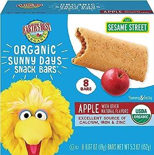 Sponsored Ad - Earth's Best Organic Sesame Street Sunny Days Toddler Snack Bars, Apple, 8 Count (Pack of 6)