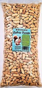 Premium Peanuts In Shell - Wild Bird - Wildlife Food - Squirrels - Deer - Cardinals - Jays & More (10-Pounds)