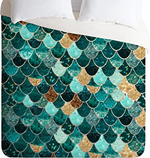 Deny Designs Monika Strigel Really Mermaid Duvet Cover, Queen