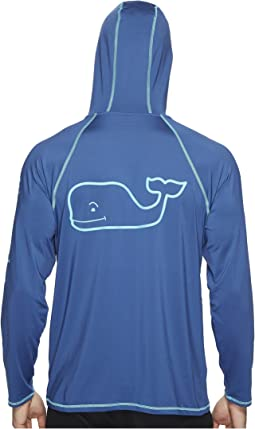 Vineyard Vines Performance Raglan Hoodie Whale Tee