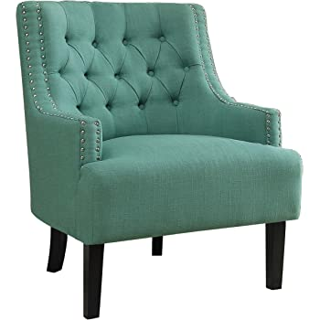 Homelegance Fabric Accent Chair, Teal