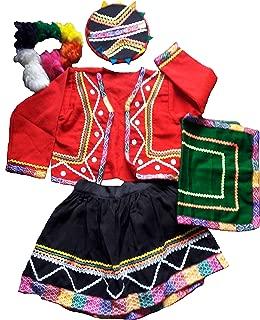 Traditional Costume Girl Original Cusco Peru