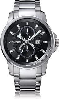 Guy Laroche Far East Black Dial Mens Stainless Steel Watch G3002-01