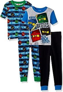 LEGO Boys' Big Ninjago Epic Battle 4pc Pajama, 2sets Sleeve, Long Pant