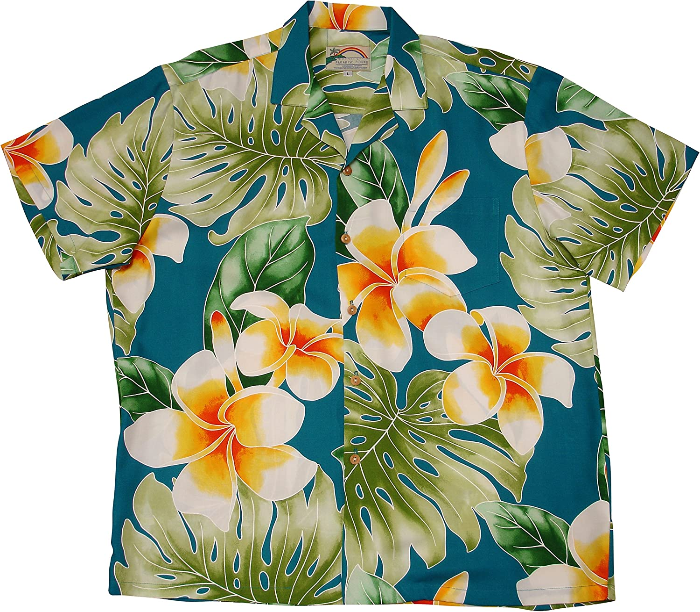 Paradise Found Mens Plumeria Beauty Shirt
