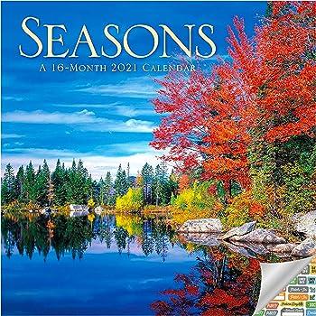 Amazon.: Four Seasons Calendar 2021 Bundle   Deluxe 2021