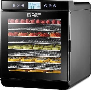 Magic Mill Food Dehydrator Machine - Digital Adjustable Timer   Temperature Control   Keep Warm Function   Dryer for Jerk...