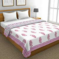 BLOCKS OF INDIA Cotton Dohar, Pink, King Size