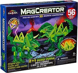 Cra-Z-Art MagCreator Dino Mags 2 in 1 T Rex /Triceratops Magcretaor Fashion Craft Kits