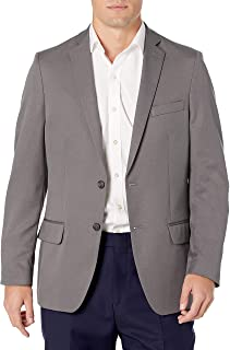 بدلة رجالي من Haggar من سلسلة Active Herringbone مقاس نحيف ومعطف منفصل بدلة عمل جاكيت