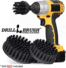 Ultra Stiff Drill Powered Cleaning Brushes Used for Heavy Duty Industrial Stripping by Drillbrush