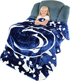 College Covers Penn State Nittany Lions Soft Rachel Plush Throw Blanket, 63 x 86