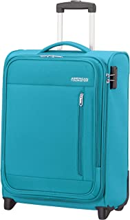 American Tourister Heat Wave - Upright S Hand Luggage, 55 cm, 42 Litre, Blue (Sporty Blue)