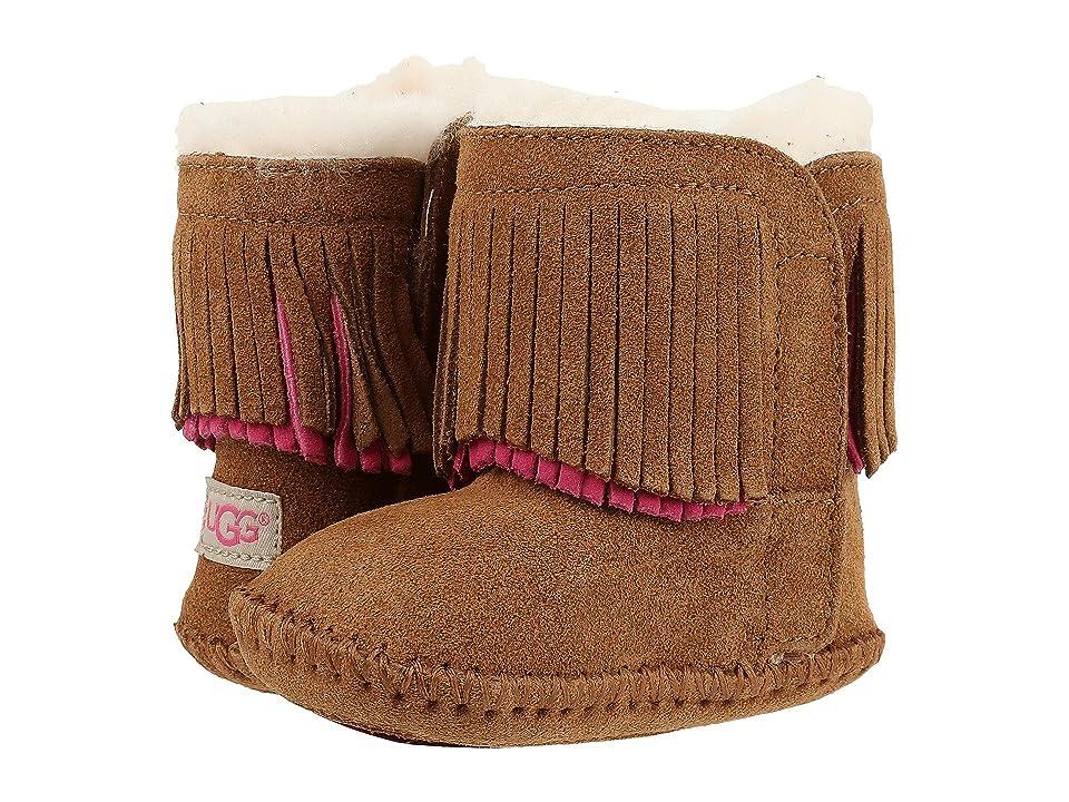 UGG Kids Branyon Fringe (Infant/Toddler) (Chestnut) Girls Shoes