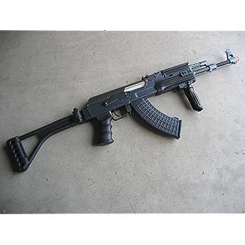 Double Eagle DE Ak-47S Metal Automatic Electric Airsoft Assault Gun 320FPS Black