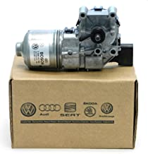 New Genuine OEM VW Windshield Wiper Motor, Volkswagen Jetta-Sedan 2011-2017, with Crank Arm, 5C7-955-113-D