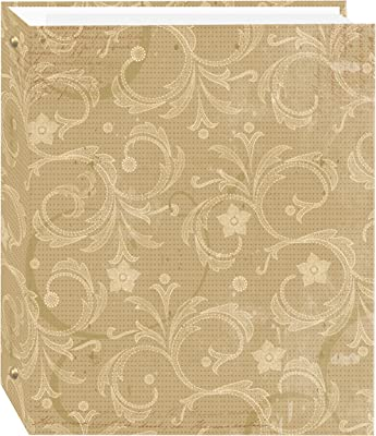 Magnetic Self-Stick 3-Ring Photo Album 100 Pages (50 Sheets), Jasmine Design
