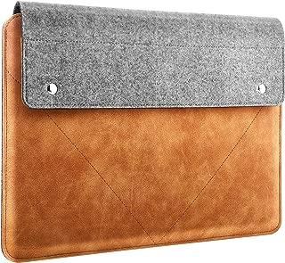 スリーブケース ATiC ノートpcケース タブレットPCケース MacBook Air 13 インチ, MacBook Pro 13インチ, Surface Laptop 1/2/3 13~13.3インチに適用 PCバッグ ケース スリーブ ノートパソコン 保護 収納ケース フェルト+PUレザー製 耐衝撃 周辺機器小物収納 出勤 ビジネス Gray & Brown