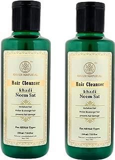 Khadi Natural Herbal Neem Sat Shampoo, 210ml (Pack Of 2)