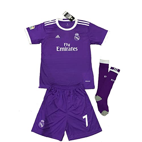 REAL MADRID 2016 2017 KIDS KITS WITH FAMOUS PLAYER NAME AND NUMBER (AWAY  RONALDO ca184637b