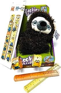 LLT Slappy Plush Toy by Zookiez with Bonus Minions Slap Bracelets (Sloth)