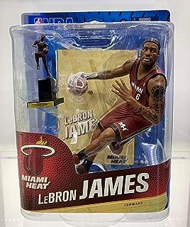 McFarlane NBA LeBron James Miami Heat Red Jersey with MVP trophy